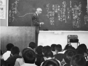 天野暢保先生の源右衛門についての授業