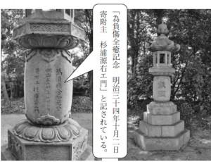 【源右衛門奉納の灯籠】