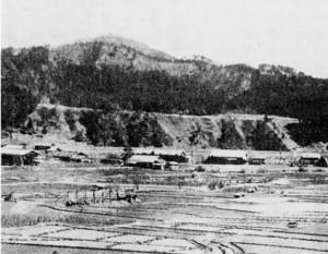 発掘当時の鞍船台地