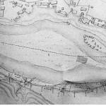 西枝下に建設された 枝下用水取水口(豊田市郷土資料館より)