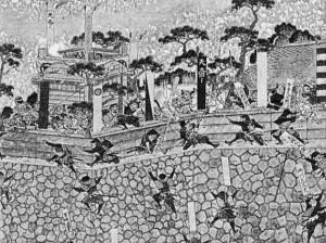 島原の乱合戦図屏風